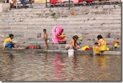 Udaipur, washing on the steps