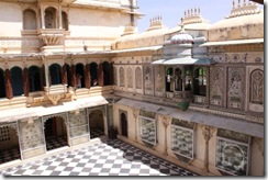Udaipur, City Palace, courtyard