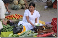 Walking through Udaipur, fruit and veg