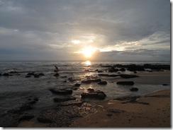 Sai Vishram Resort, sunset on beach